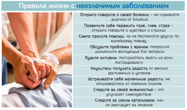 Правила благополучной жизни с неизлечимым заболеванием