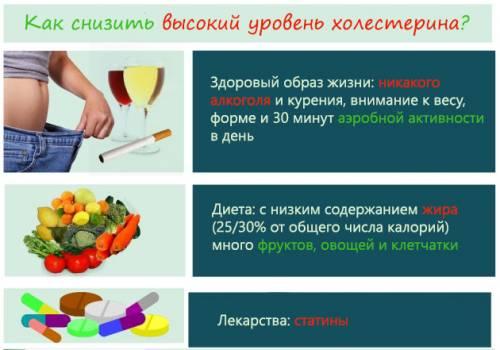 Правила снижения уровня холестерина в крови