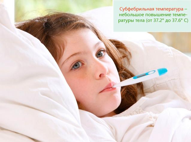 Субфебрильная температура – небольшое повышение температуры тела
