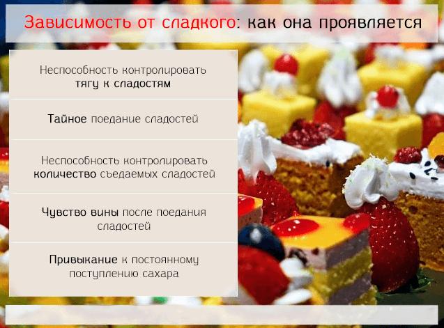 Как проявляется зависимость от сладостей