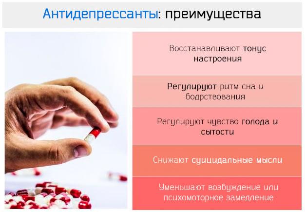 Преимущества использования антидепрессантов