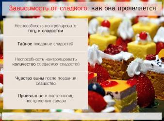 Зависимость от сладкого: как избавиться от тяги к сахару, причины, симптомы и советы, как победить психологическое расстройство