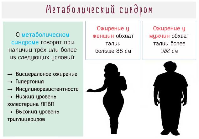 Метаболический синдром - что это такое простым языком: лечение, симптомы