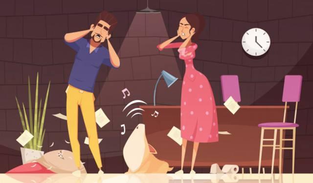 Иллюстрация на тему звуковой нагрузки на уши современного человека