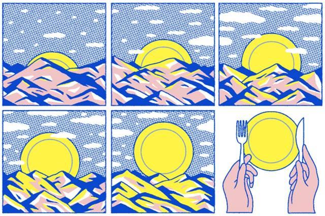 Комикс на тему питания только при дневном свете