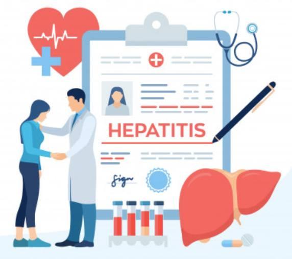 Девушка с гепатитом пришла на осмотр к врачу