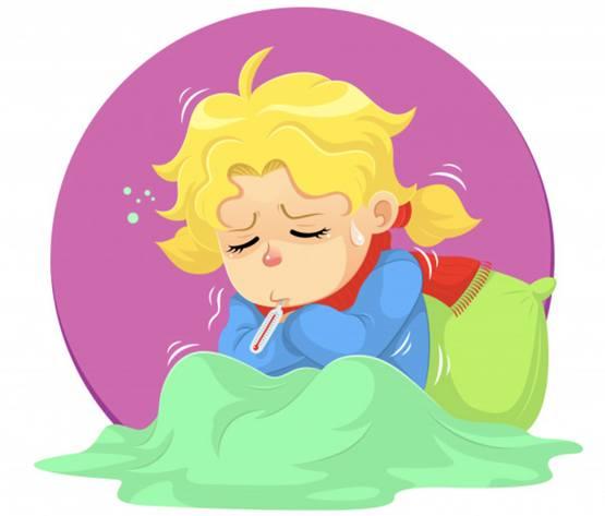 Иллюстрация на тему озноба тела во время болезни