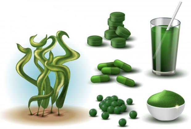 Разнообразные лекарственные формы водоросли спирулины