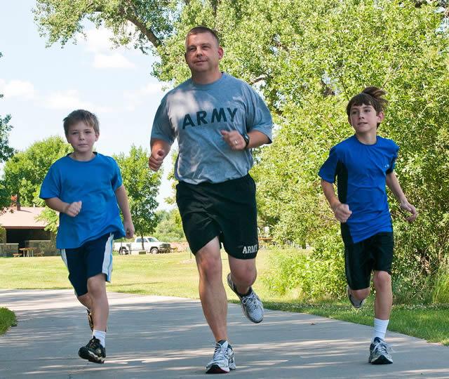 Дети с муковисцидозом на пробежке