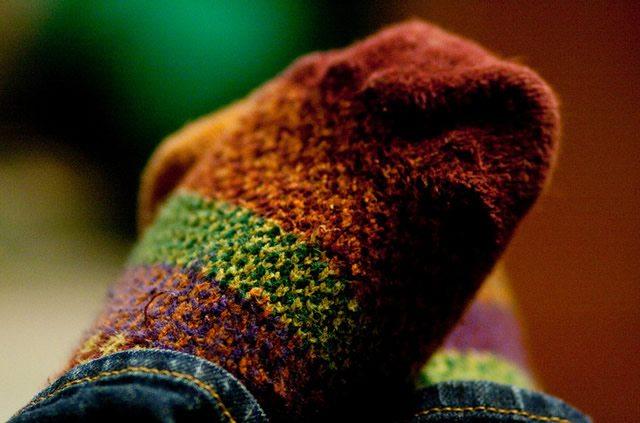 Теплые носки защитят ноги от переохлаждения