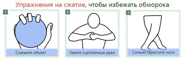 Компрессионные упражнения против обморока