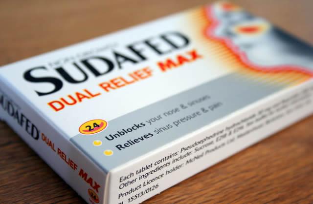 Псевдоэфедринсодержащее лекарство – Судафед