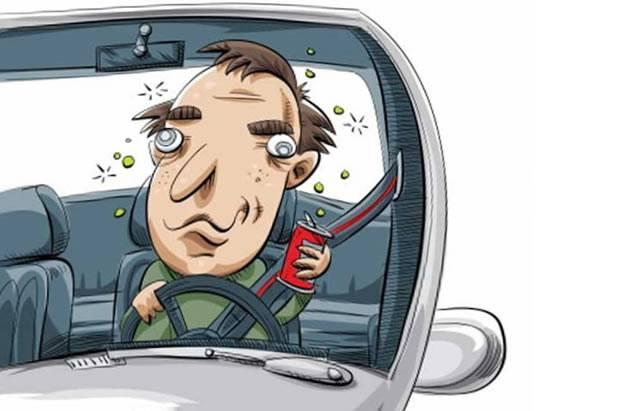 Дезориентированный водитель под действием лекарств