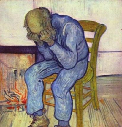 Человек в депрессии – изображение Винсента Ван Гога