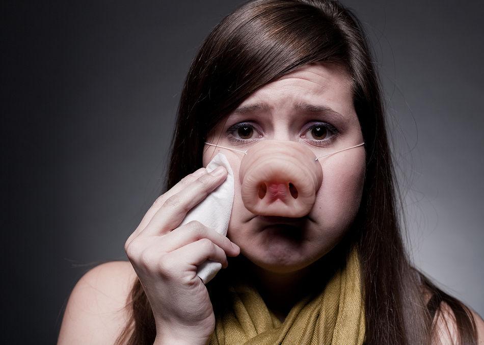 Девушка со свиным носом