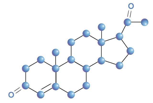 Структурная модель молекулы прогестерона