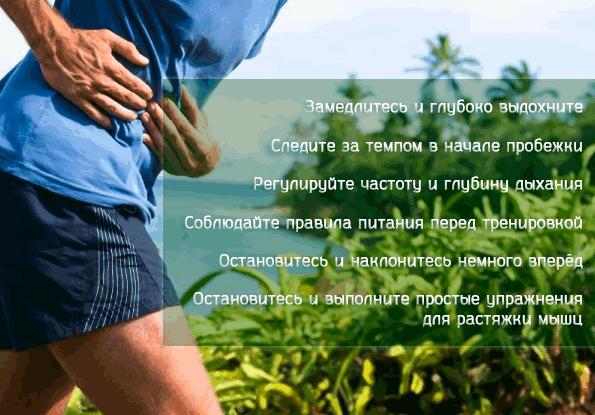 Рекомендации при коликах в животе во время бега