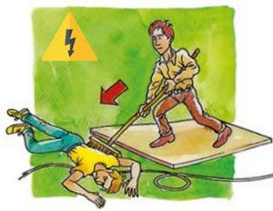 Спасение человека при поражении электрическим током