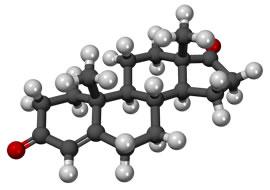 3D модель молекулы гормона андростендион