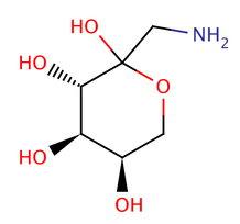 Схема простой молекулы фруктозамина