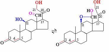 Стандартная молекула альдостерона и полиацетальная